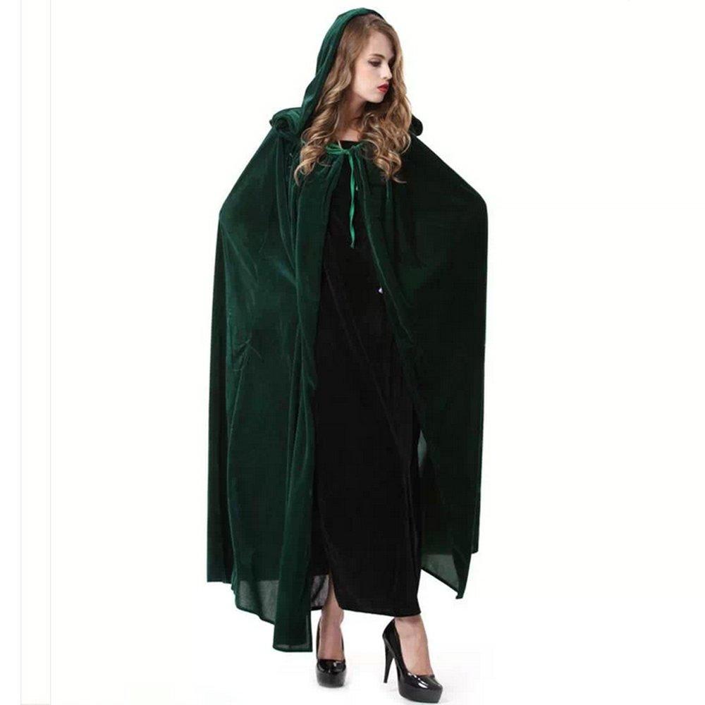 Rulercosplay Halloween Cloak Blue or Green Witch Hoodies Cosplay Costume 59/'/'
