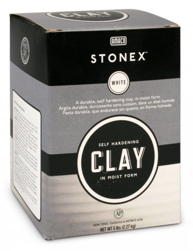Self Hardening Clay (AMACO Stonex Self-Hardening Clay, 5-Pound, White)