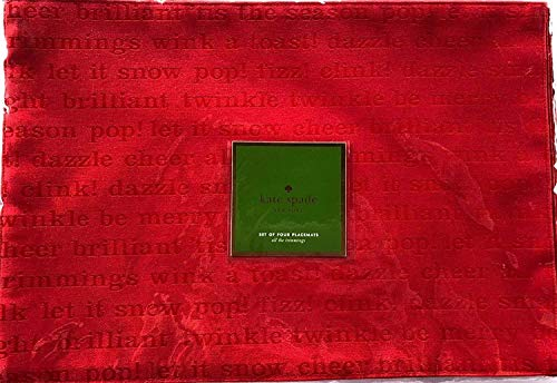 Kate Spade All the Trimmings Cranberry Red Placemat set 4 pc