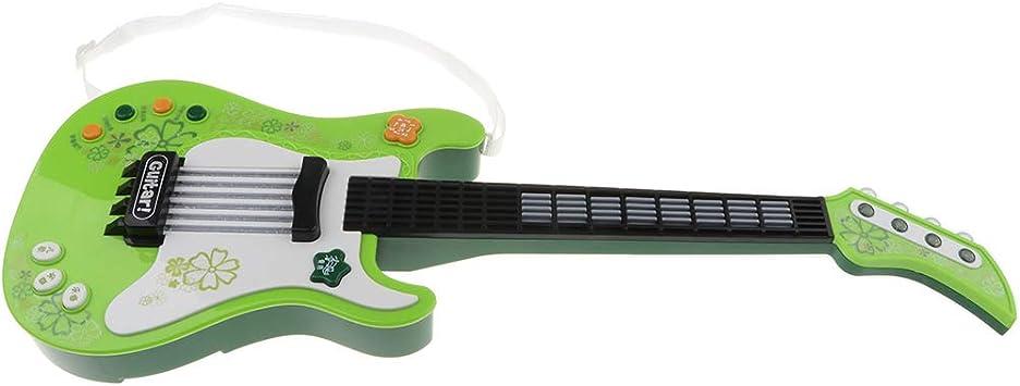 non-brand Juguete de Guitarra Eléctrica Acústica Plástico Juego de ...