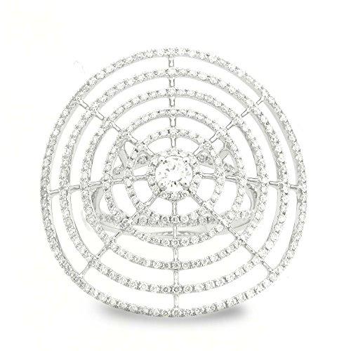 18K White Gold 1 1/4ct TDW Spider Web Diamond Ladies Fashion Band (G-H, SI1-Si2) (Spider Diamond White)