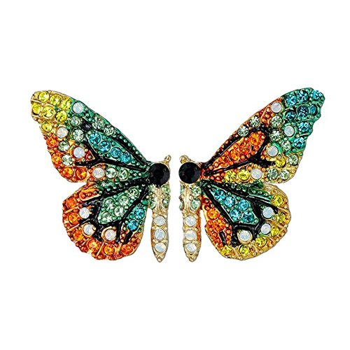 Color Fairy Tale Butterfly Stud Earrings for Women and Girls