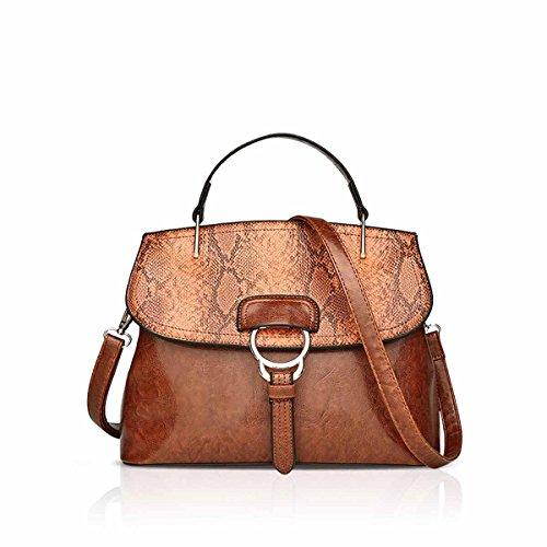Brown Snakeskin Purse - NICOLE & DORIS Women Handbags Elegant Crossbody Bag Snakeskin Patterned Daily Shoulder Bag for Female PU Leather Brown