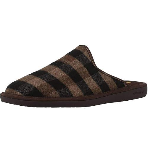 nueva estilos 3e42c 9befc Zapatillas de Estar por casa de Hombre, Color marrón, Marca ...