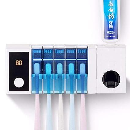 Z@SS Porta Cepillo De Dientes Ultravioleta Cepillo De Dientes Esterilizador Automático Dispensador De Pasta
