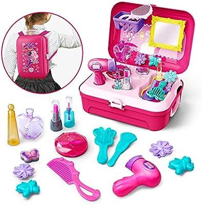 GizmoVine Maquillaje Niñas Set Maquillaje Niña Juguetes con Mochila 21pcs Juguetes Niñas 2 3 4 5 6 Años: Amazon.es: Juguetes y juegos