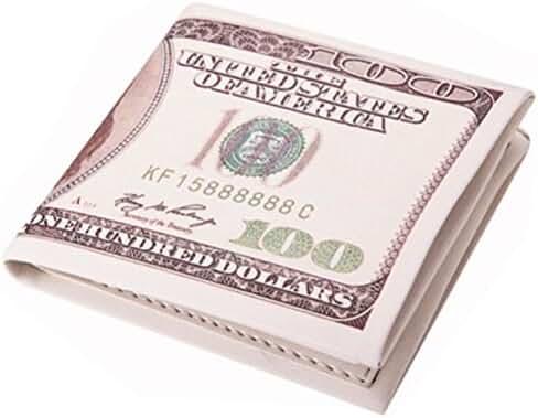Men Dollar Bill Design Mighty Wallet Leather Pocket Wallets Men's Billfold