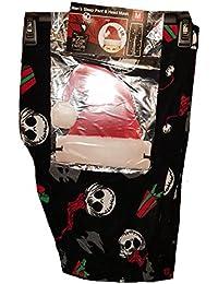 Nightmare Before Christmas Jack Skellington Fleece Sleep Pants & Head Mask