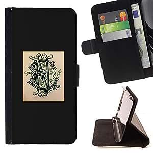 BullDog Case - FOR/Sony Xperia m55w Z3 Compact Mini / - / logo brand poser ink tattoo graffiti /- Monedero de cuero de la PU Llevar cubierta de la caja con el ID Credit Card Slots Flip funda de cuer