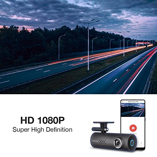 70mai Smart Dash Cam with Built-in Wifi, Featuring Voice Control, Emergency Recording, APP Control Dashboard, HD 1080P, 130° Wide Angle Car Camera Recorder with Night Vision, G-Sensor, Car DVR by 70mai (Image #3)
