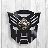 Transformers, Optimus Prime, Bumblebee,Room Decor, Vinyl wall Clock, Home Decor, Unique Design, Vinyl Record, Marvel, DC, Comics, Movie, Best Gift for Mom, Dad, Kid, Pop Modern Wall Art