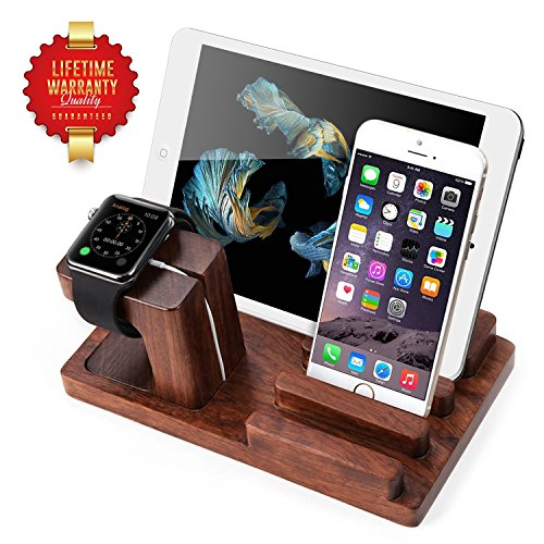 Apple Watch Stand Aerb Rosewood Charge Dock Holder For