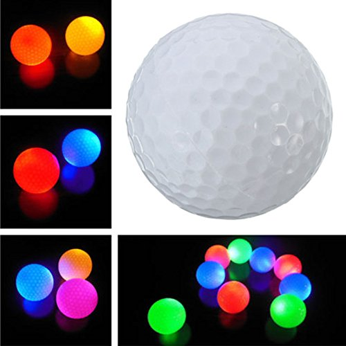 YPINGLI Electronic Light Up Flashing LED Golf Ball Night Light Lamp for Sport Gift LED Lights ()