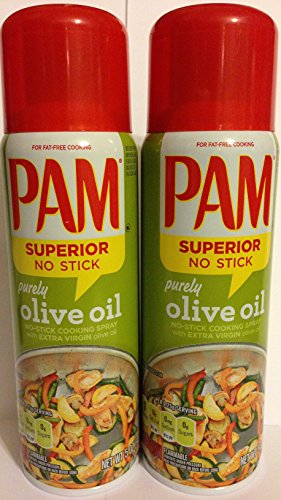 Non Stick Cooking Sprays (Pam No-Stick Cooking Spray - Purely Olive Oil - Superior No Stick With Extra Virgin Olive Oil - Net Wt. 5 OZ (141 g) Each - Pack of)