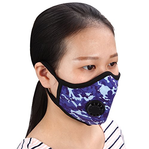 Anti Dust Mask Reusable Respirator Cotton Mouth Muffle PM 2.5 Anti Pollution for Allergy / Asthma / Travel / Cycling / School / Adult Children(L) by DIWEIYA