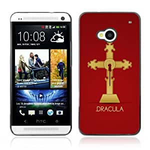 Designer Depo Hard Protection Case for HTC One M7 / Cool Dracula Vampire Cross