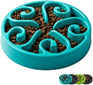 IMHAPO Slow Feeder Dog Bowl, Large 500ml Pet Slow Down Feeding Dishes, Maze Interactive Dog Puzzle, Fun Feeder