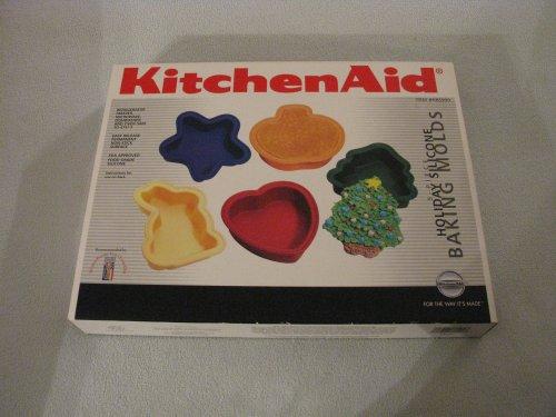 Kitchenaid 5 Piece Holiday Silicone Baking Molds
