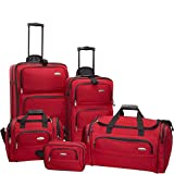 Samsonite 5 Piece Nested Luggage Set, Red