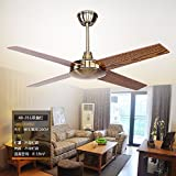 ZPSPZ Ceiling fan Living Room Restaurant Air Fan Ceiling European Style Antique Simple Modern Without Light Fan Ceiling Fa