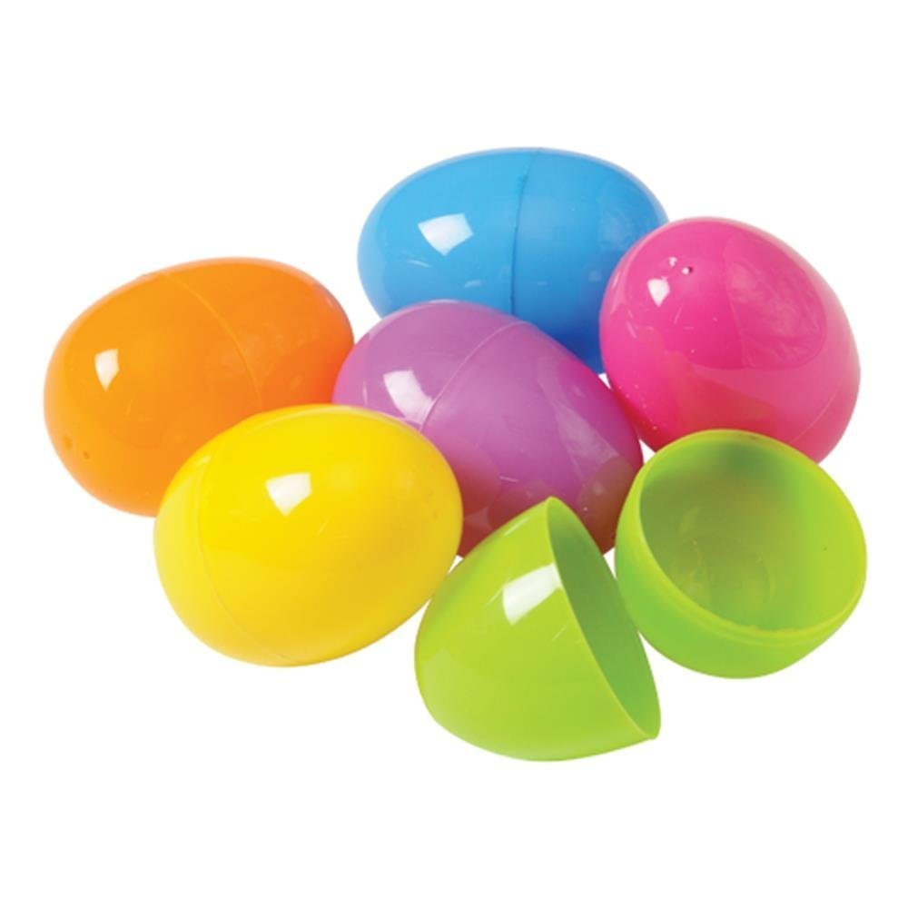 U.S. Toy Plastic Easter Eggs, Assorted Colors (100 Pack) & Durable Plastic Eggs for Easter, Children Egg Hunts, and Candy