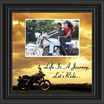 Motorcycle, Harley Davidson, Picture Frame, Landscape, Let's Ride Sky Personalized 9764B