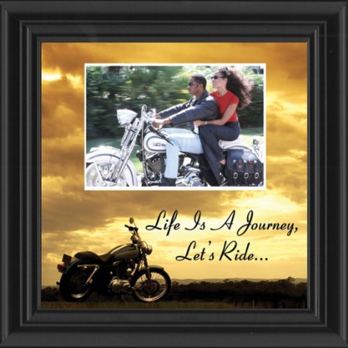 Harley Davidson Photo Frames (Motorcycle, Harley Davidson, Picture Frame, Landscape, Let's Ride Sky Personalized 9764B)