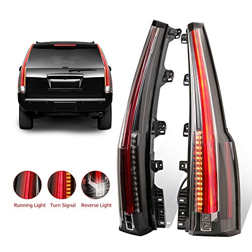 MOSTPLUS LED Tail Lights Rear Lamp Brake for 2015 2016 2017 2018 GMC Yukon Cadillac Style Set of 2