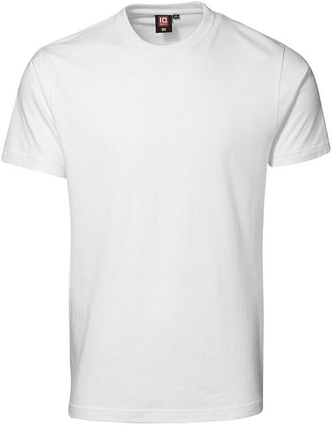 ID - Camiseta básica de manga corta ajustada de algodón Modelo Yes ...