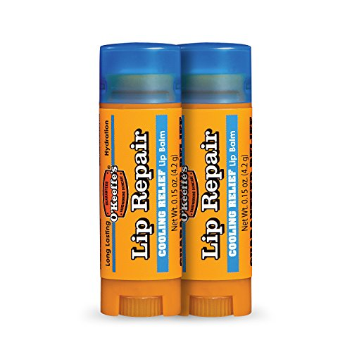 O'Keeffe's Cooling Relief Lip Repair Lip Balm for Dry, Cracked Lips, Stick, (Pack of 2) (Best Lip Balm For Dry Cracked Lips)