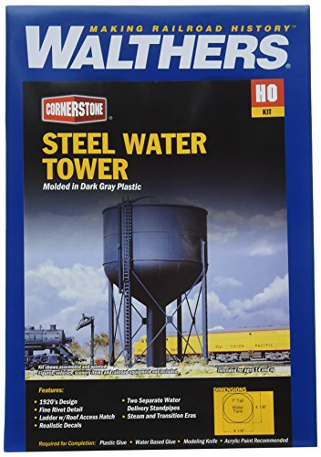 Walthers Cornerstone HO Scale Steel Water Tank Structure Kit ()
