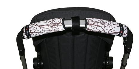 Tris&Ton Fundas empuñaduras horizontal doble Moto Blanca, empuñadura funda para silla de paseo cochecito carrito