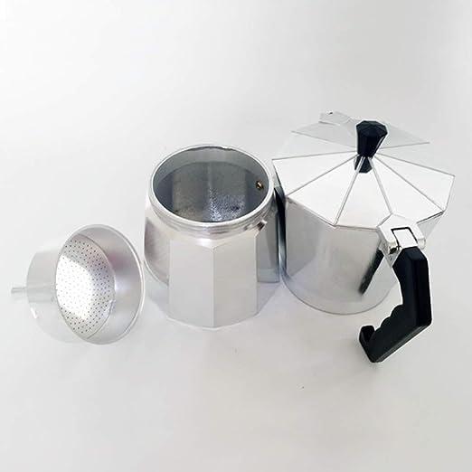 Cafetera Italiana,Cafetera espressos en Acero Inoxidable,Conveniente para la Cocina de inducción,Cafetera Moka Clásica, Uso Doméstico y en la Oficina.: Amazon.es: Hogar