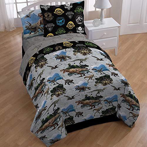 Toddler Bedding World - Jurassic World 5-Piece Twin Bedding Tote Bag Set