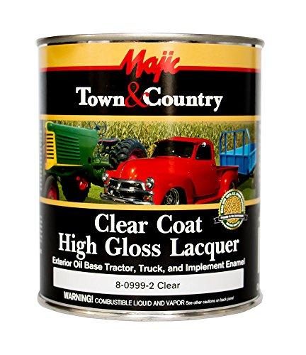 (Majic Paints 8-0999-2 Clear Coat High Gloss Lacquer, 1-Quart, Clear)