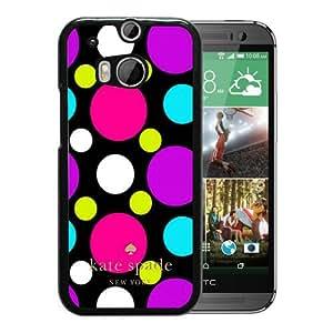 Unique Designed Kate Spade Cover Case For HTC ONE M8 Black Phone Case 78