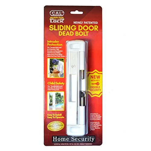 Outlet Cal Double Bolt Lock High Security For Sliding Glass Doors