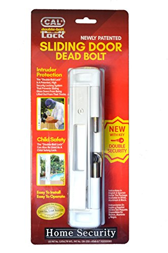 CAL Double Bolt Lock - High Security for Sliding Glass Doors - Child Safety Lock - Burglar/ Hurricane (Double Bolt)