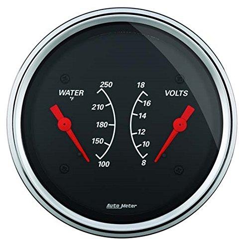 Auto Meter 1430 Designer Black Water Temperature Gauge