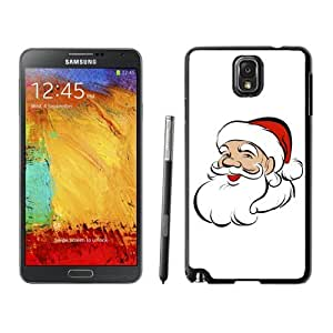 Note 3 Case,Lovely Christmas Santa Grandpa TPU Black Samsung Galaxy Note 3 Cover Case,Note 3 Cover Case