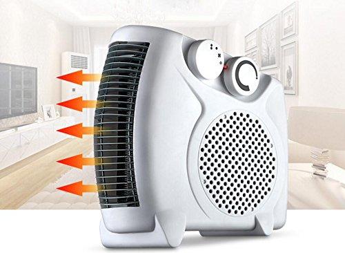 e-joy 1500W Portable Heater Fan Heater Space Heater Desktop Heater with 2 Heat Settings, Cool Air Function & Adjustable Thermostat