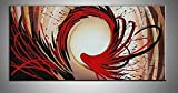 Hand Painted Abstract Oil Painting on Canvas Modern Wall Deco Artwork 24X48 Inch (Abstract Oil Painting on Canvas Modern)