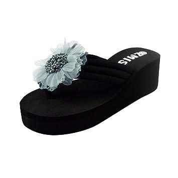 7204cf773 Clearance Women's High Heel Platform Wedge Sandals Shoes, Jiayit Women  Ladies Summer Flower Home Wedges