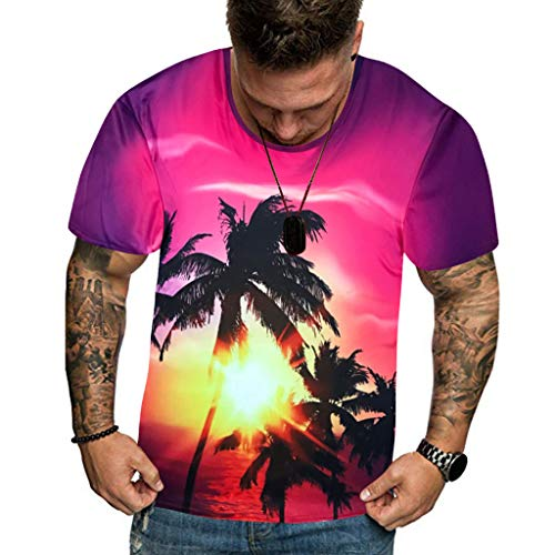 Men 3D Printed T Shirt Summer New Full Plus Size Cool Hawaiian Printing Top M-3XL for $<!--$10.09-->