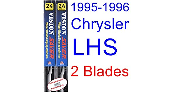 Amazon.com: 1995-1996 Chrysler LHS Replacement Wiper Blade Set/Kit (Set of 2 Blades) (Saver Automotive Products-Vision Saver): Automotive