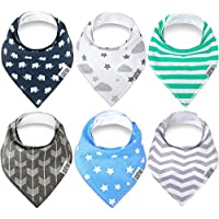 Swish Baby Bandana Drool Bibs for Drooling and Teething - Unisex 6 Pack Gift ...