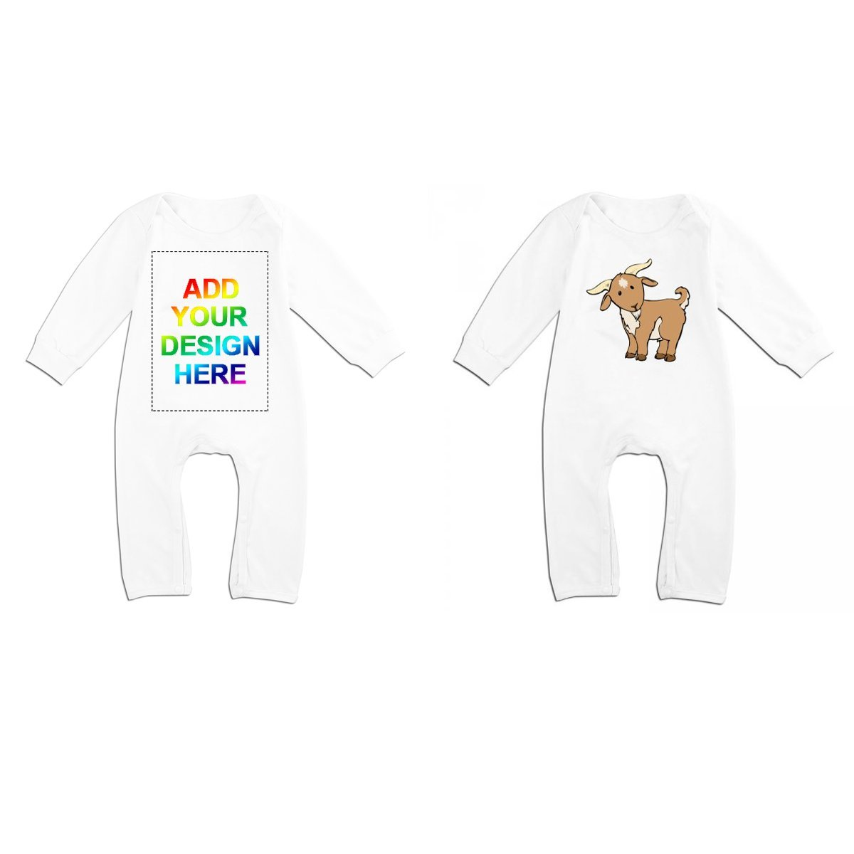 Custom Baby Girl Boy Outfits Romper,Personalized Jumpsuit Ideal for Spring White