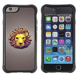 Be-Star único patrón Impacto Shock - Absorción y Anti-Arañazos Funda Carcasa Case Bumper Para Apple iPhone 6(4.7 inches) ( Lion Face )