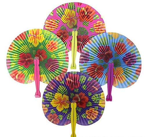 (DollarItemDirect 10 inches Hibiscus Folding Fan, Case of 600)