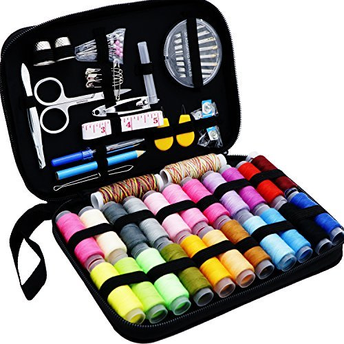 Sewing kit, Premium DIY Sewing supplies,24 Spools of Sewing Thread, Portable Mini sewing kits for Adults, Beginners, Kids, Travel,Emergency to Mend and Repair